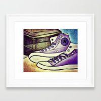 converse Framed Art Prints featuring Converse by April H