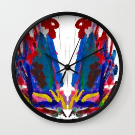 Doodles Paper by Elisavet Wall Clock