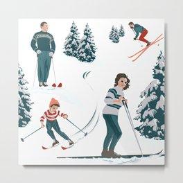 Sports d'hiver Metal Print