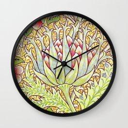William Morris Artichoke Wall Clock