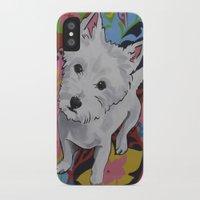 westie iPhone & iPod Cases featuring Pop Art Westie Named Poppy by Karren Garces Pet Art