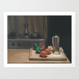 Still Life With Peppers Art Print