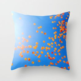 Clemson balloons Throw Pillow