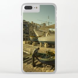 St Julian's golden boats Clear iPhone Case