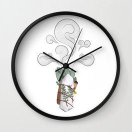 Crystal Sage Rosemary Smudge Protection Wand • Mystical Metaphysical High Vibrations Wall Clock