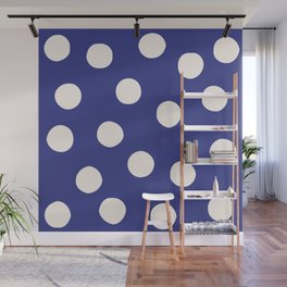 Blue Random Polka Dots Wall Mural