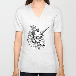 Unicorn's skull Unisex V-Neck