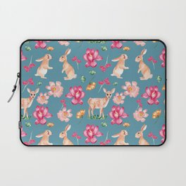 rabbits and fawn Laptop Sleeve