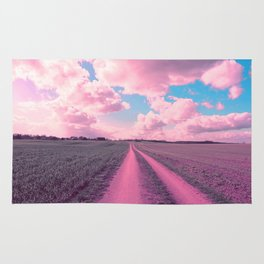 The pink way to the pink clouds Rug