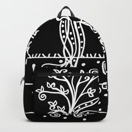 Strong Roots - White Black Backpack