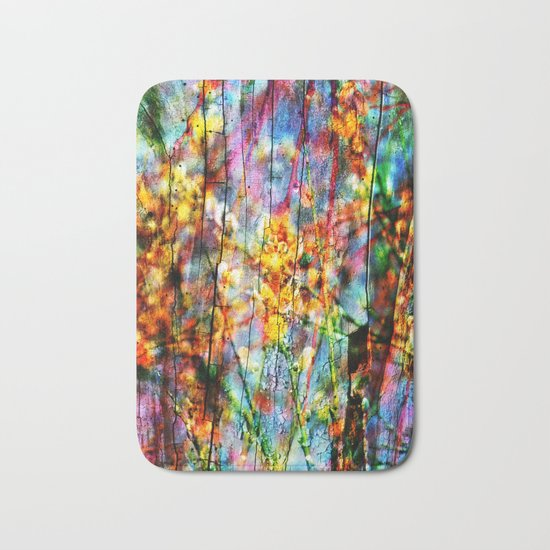 Colorful Symphony of Spring Bath Mat