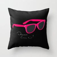 darren criss Throw Pillows featuring Darren Criss Glasses by byebyesally