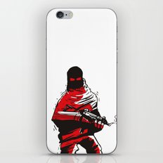 Death wears a track suit iPhone Skin