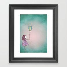 One Ballon Framed Art Print