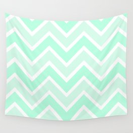 TWO-TONE MINT CHEVRON Wall Tapestry