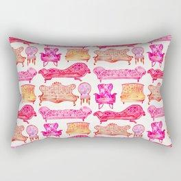 Victorian Lounge – Pink Palette Rectangular Pillow