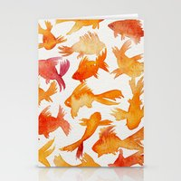 goldfish Stationery Cards featuring Goldfish by Cat Coquillette