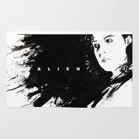 ripley Area & Throw Rugs featuring Alien by jgart