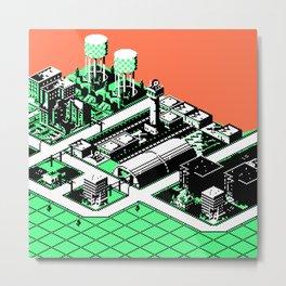 SimCityscape 01 Metal Print