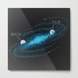 Playing Games in the Milky Way Metal Print