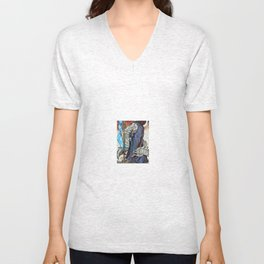 Stained Glass Witch Unisex V-Neck