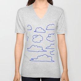 Happy Little Clouds Unisex V-Neck