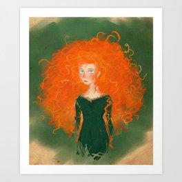 Merida from Brave (Pixar - Disney) Art Print