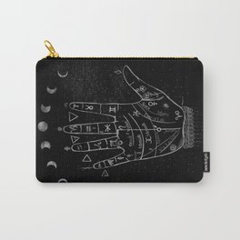 'Palmistry by Night' and moon phases by Kristen Baker Carry-All Pouch