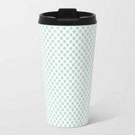 Honeydew Polka Dots Travel Mug