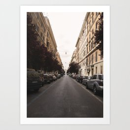 street in italy Art Print