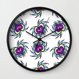 Jagged Little Hearts Wall Clock