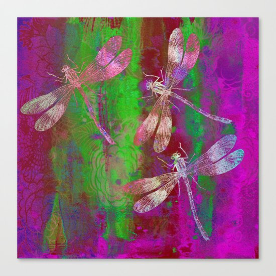 A Dragonflies QR Canvas Print