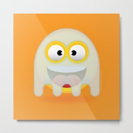 Ghosty the Smiley Metal Print