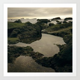 Rocky Shore and the Sea 01 Art Print