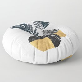Gold + Marble Floral Vase Floor Pillow