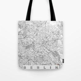 Berlin Map Line Tote Bag