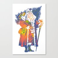 chris evans Canvas Prints featuring Chris by David Chestnutt