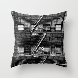 Fire escapes at noon Throw Pillow