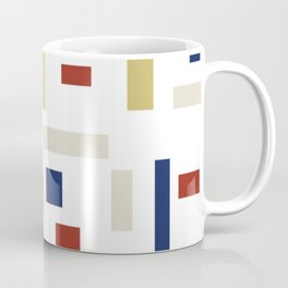 Abstract Theo van Doesburg Composition VIII (White) The Three Graces Coffee Mug