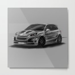 Porsch Cayenne Gray Artrace body-kit Metal Print