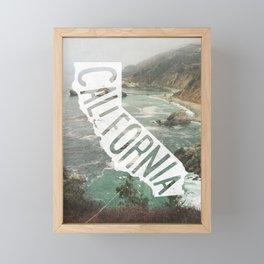 California Framed Mini Art Print