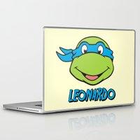 leonardo dicaprio Laptop & iPad Skins featuring Leonardo by husavendaczek