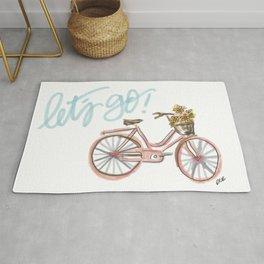 Let's Go! (vintage bike) Rug
