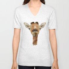 little giraffe Unisex V-Neck