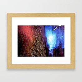 Abstract Lit Xmas Tree2 Framed Art Print