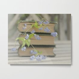 Forget Me Not Bookmark Metal Print