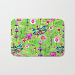 Tropical Dragonfly Garden Bath Mat
