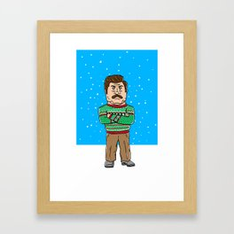 Ron Swanson Christmas Framed Art Print