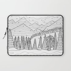 Yeti from the Bestiary Coloring Book Laptop Sleeve