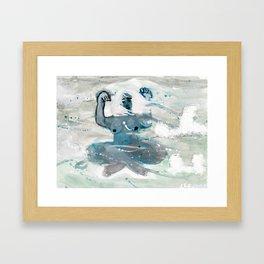 Series 1.1: Blowing Framed Art Print